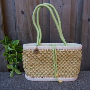 The Sak Rattan Woven Basket Bag